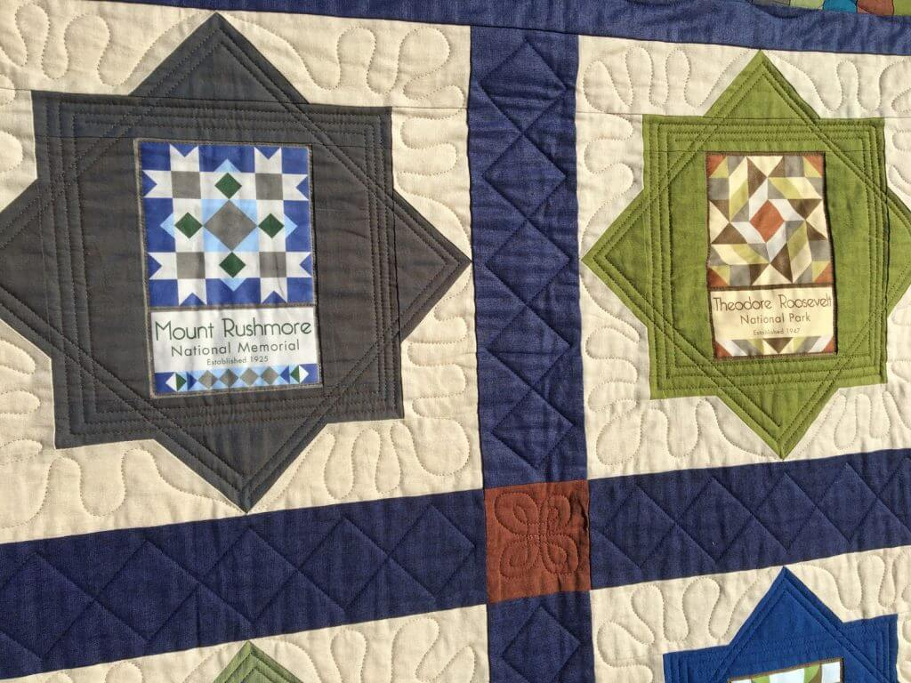 Finished National Park quilt detail 2