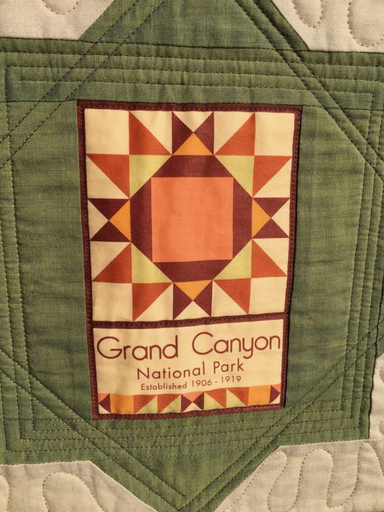 Grand Canyon NP quilt block