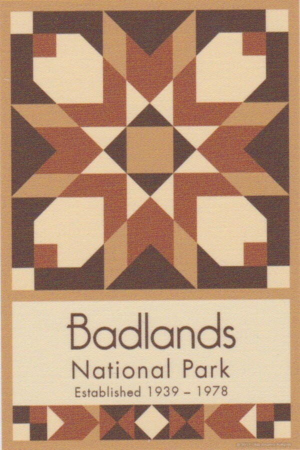 NP Badlands quilt block