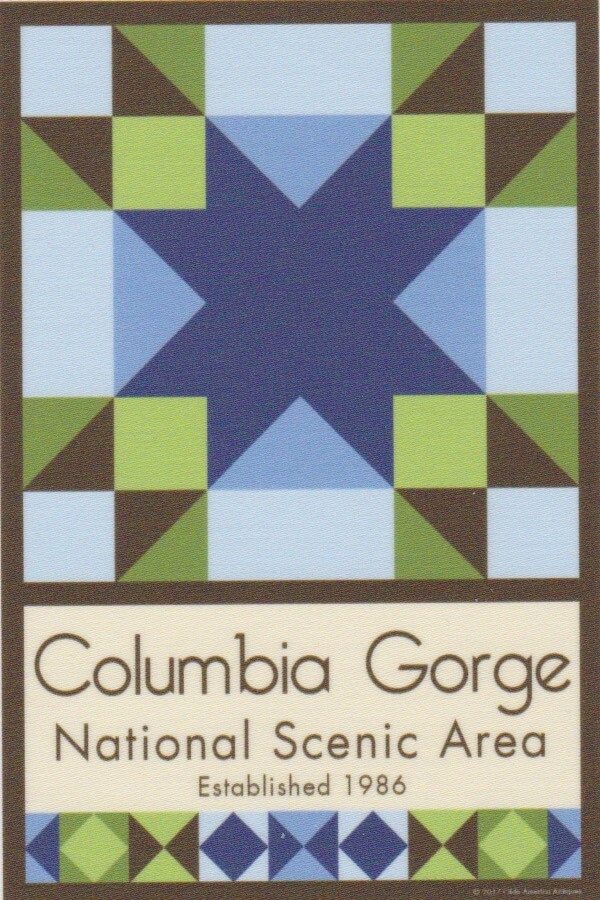 NP Columbia Gorge quilt block
