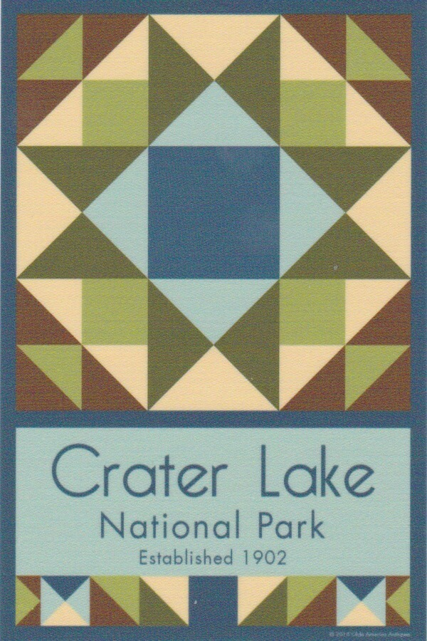 NP Crater Lake quilt block