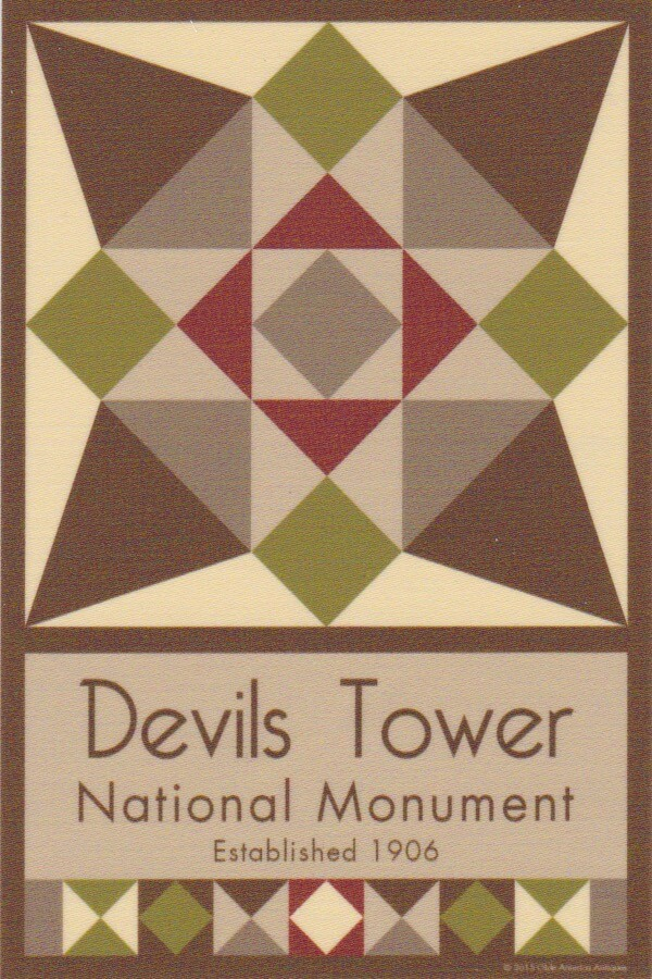 NP Devils Tower quilt block