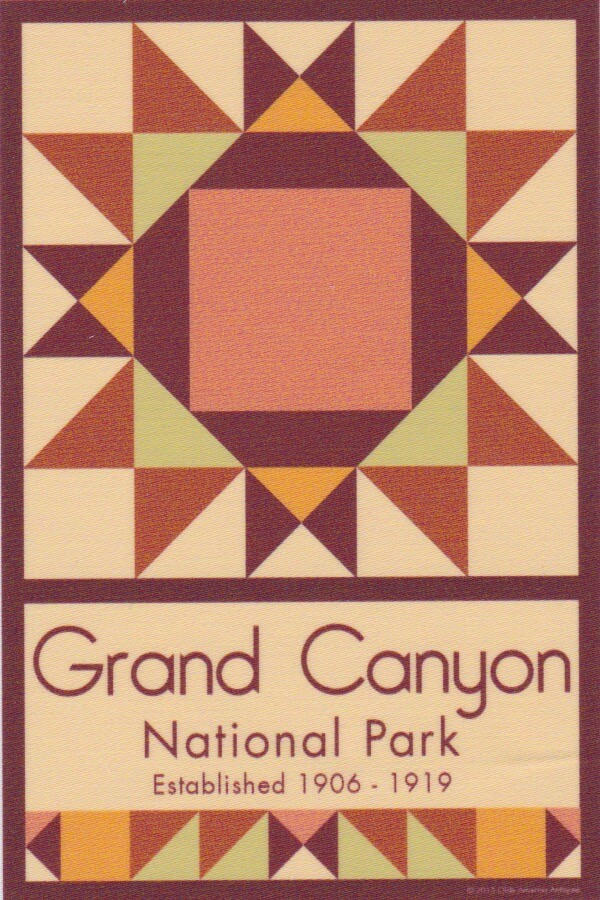 NP Grand Canyon quilt block
