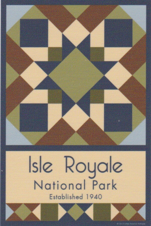 NP Isle Royale quilt block