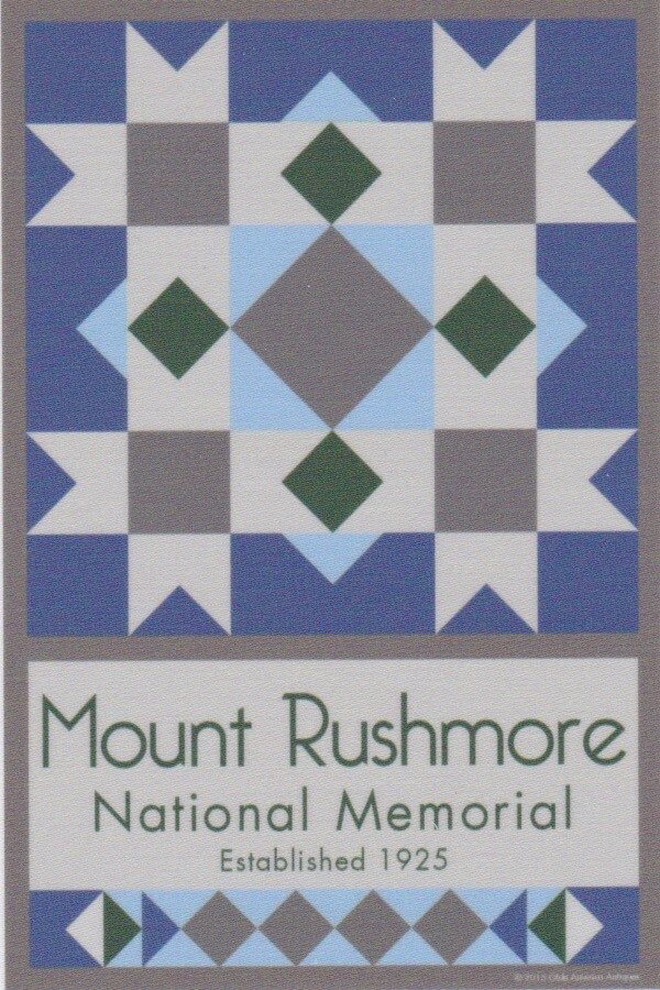 NP Mt Rushmore quilt block