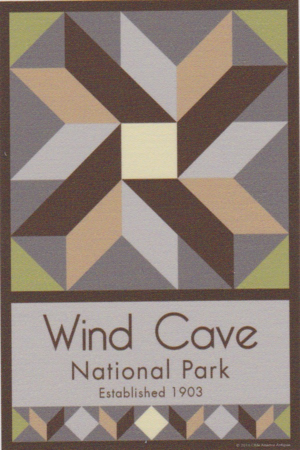 NP Wind Cave quilt block