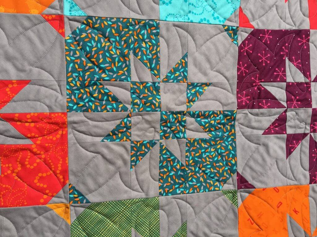 Disappearing hourglass quilt detail 1