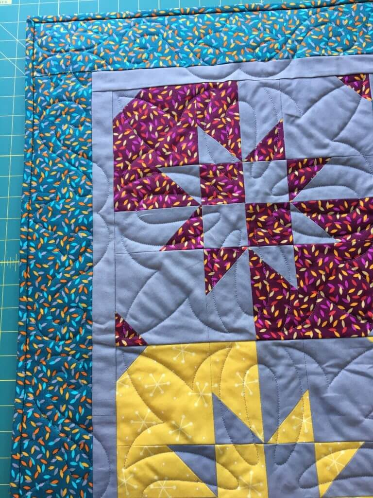 Disappearing hourglass quilt detail 4