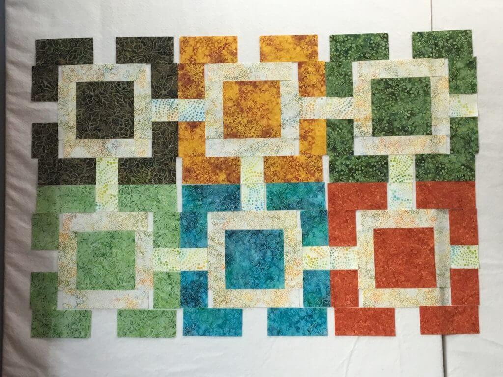 Fujita Maze with two different sashing colors