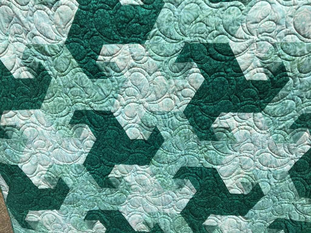 Finished Trail Mix quilt detail